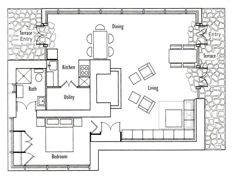 frank lloyd wright s seth peterson cottage floor plan rh sethpeterson org floor plans for guest cottages floor plans for cabin with loft